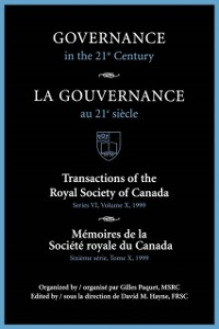 Cover Governance in the 21st Century / Gouvernance Au 21e Siecle