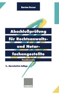 Cover Abschluprufung fur Rechtsanwalts- und Notarfachangestellte