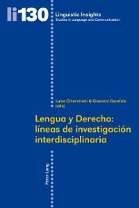 Cover Lengua y Derecho: lineas de investigacion interdisciplinaria