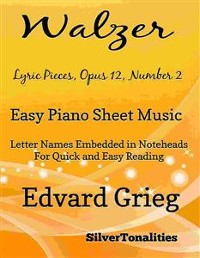 Cover Walzer Opus 12 Number 2 Easy Piano Sheet Music