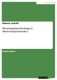 Cover Phonologiebeschreibung in Missionarsgrammatiken