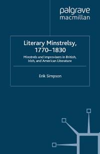 Cover Literary Minstrelsy, 1770-1830