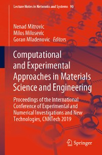 Cover Computational and Experimental Approaches in Materials Science and Engineering