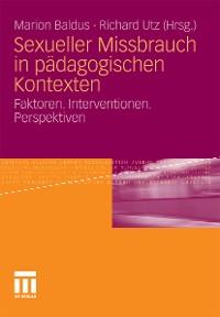 Cover Sexueller Missbrauch in pädagogischen Kontexten