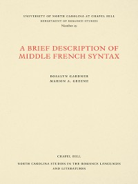 Cover A Brief Description of Middle French Syntax