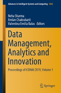 Cover Data Management, Analytics and Innovation