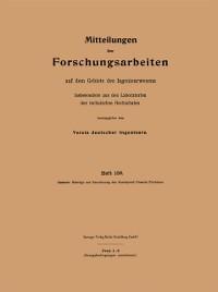 Cover Mitteilungen uber Forschungsarbeiten auf dem Gebiete des Ingenieurwesens
