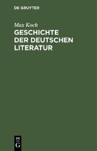 Cover Geschichte der deutschen Literatur