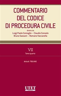 Cover Commentario del Codice di procedura civile - vol. 7 - tomo IV