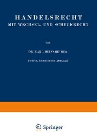 Cover Handelsrecht mit Wechsel- und Scheckrecht