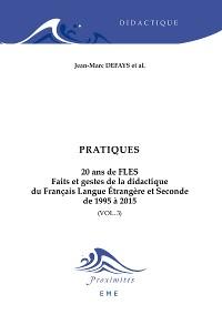 Cover Pratiques. 20 ans de FLES