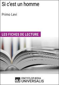 Cover Si c'est un homme de Primo Levi