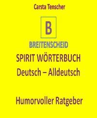 Cover Spirit Wörterbuch Deutsch-Alldeutsch