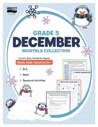 Cover December Monthly Collection, Grade 5