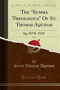 "Cover The ""Summa Theologica"" Of St. Thomas Aquinas"