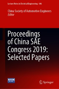 Cover Proceedings of China SAE Congress 2019: Selected Papers