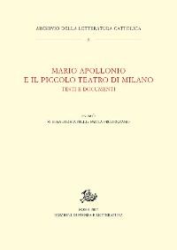 Cover Mario Apollonio e il Piccolo Teatro di Milano