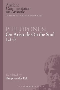 Cover Philoponus: On Aristotle on the Soul 1.3-5