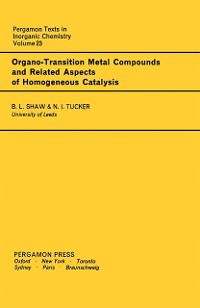 Cover Organo-Transition Metal Compounds and Related Aspects of Homogeneous Catalysis