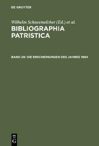 Cover Die Erscheinungen des Jahres 1984