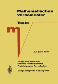 Cover Mathematisches Vorsemester