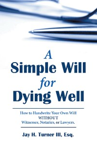 Cover A Simple Will for Dying Well