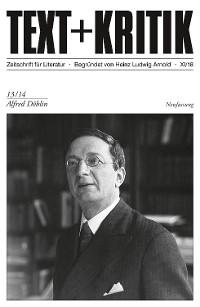 Cover TEXT + KRITIK 13/14 - Alfred Döblin