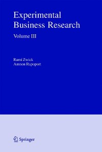 Cover Experimental Business Research