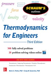 Cover Schaum s Outline of Thermodynamics for Engineers, 3rd Edition