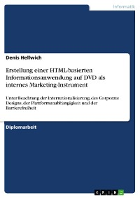 Cover Erstellung einer HTML-basierten Informationsanwendung auf DVD als internes Marketing-Instrument