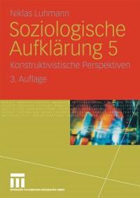 Cover Soziologische Aufklarung 5