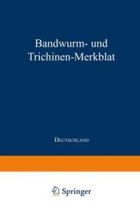 Cover Bandwurm- und Trichinen-Merkblatt