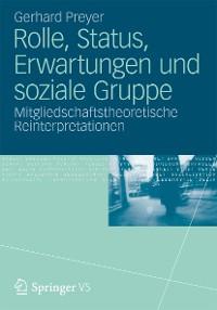 Cover Rolle, Status, Erwartungen und soziale Gruppe