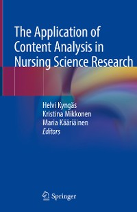 Cover The Application of Content Analysis in Nursing Science Research