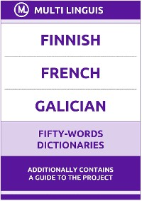 Cover Finnish' French' Galician Fifty-Words Dictionaries