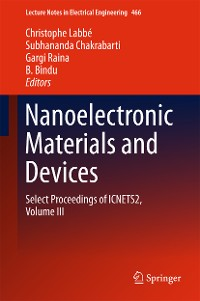 Cover Nanoelectronic Materials and Devices