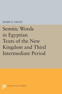 Cover Semitic Words in Egyptian Texts of the New Kingdom and Third Intermediate Period