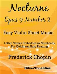 Cover Nocturne Opus 9 Number 2 Easy Violin Sheet Music
