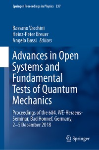 Cover Advances in Open Systems and Fundamental Tests of Quantum Mechanics