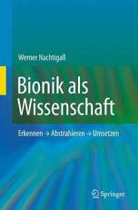 Cover Bionik als Wissenschaft