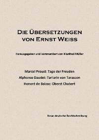 Cover Die Übersetzungen von Ernst Weiß