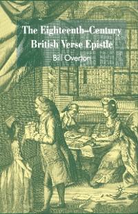Cover The Eighteenth-Century British Verse Epistle