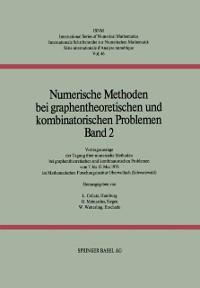 Cover Numerische Methoden bei graphentheoretischen und kombinatorischen Problemen