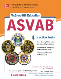 Cover McGraw-Hill Education ASVAB with DVD, Fourth Edition