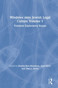 Cover Windows onto Jewish Legal Culture Volume 1