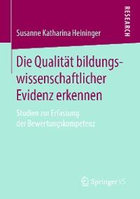 Cover Die Qualität bildungswissenschaftlicher Evidenz erkennen