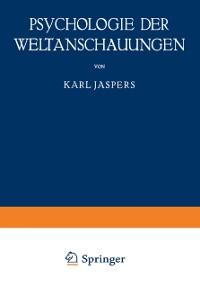 Cover Psychologie der Weltanschauungen