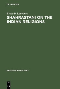Cover Shahrastani on the Indian Religions