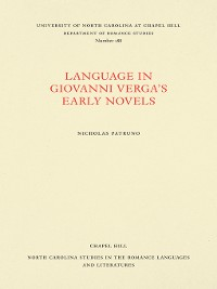 Cover Language in Giovanni Verga's Early Novels