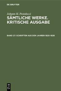 Cover Schriften aus den Jahren 1820–1826